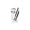 Klucz trzpieniowy sześciok. z poprzeczną rękojeścią TENG TOOLS