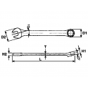 Klucz płasko-oczkowy 6 mm TENG TOOLS