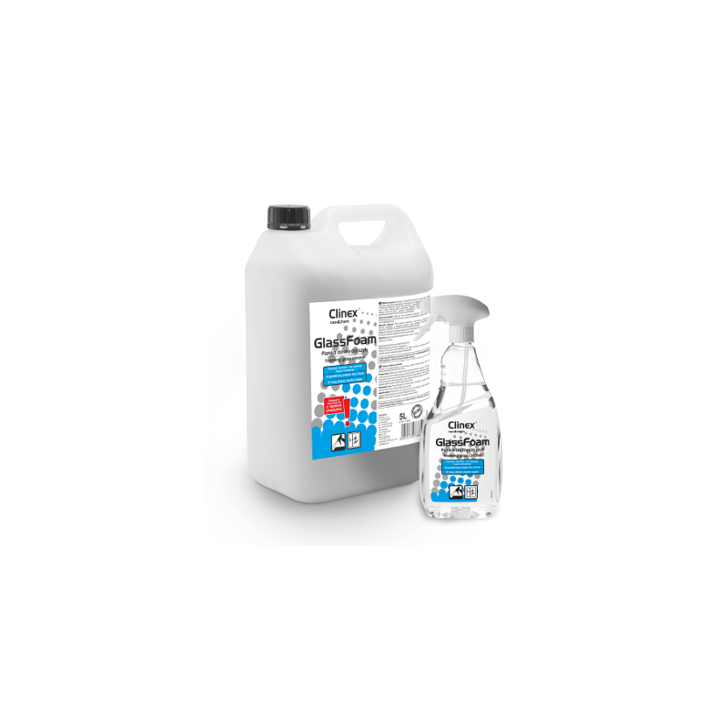 Pianka do mycia szyb CLINEX GLASS FOAM 5L