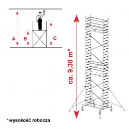 Aluminiowe rusztowanie jezdne KRAUSE PROTEC 8,30m