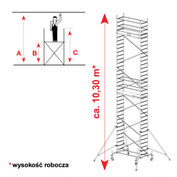 Aluminiowe rusztowanie jezdne KRAUSE PROTEC 9,30m