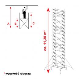 Aluminiowe rusztowanie jezdne KRAUSE PROTEC 11,30m