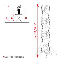Aluminiowe rusztowanie jezdne KRAUSE PROTEC 12,30m