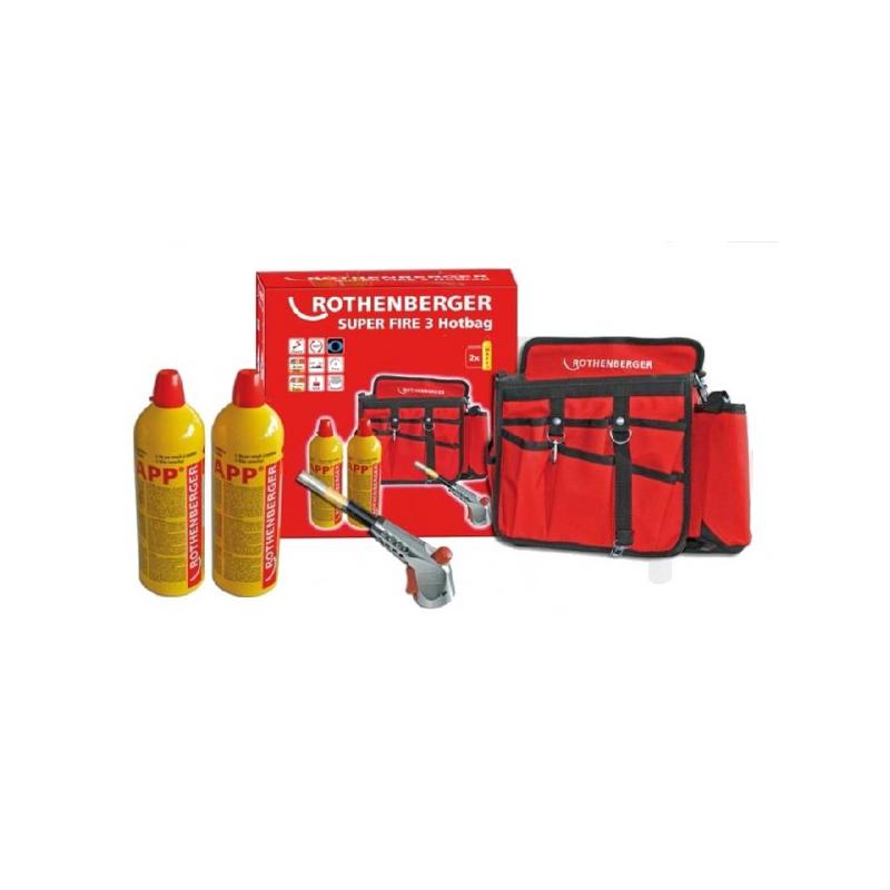 Zestaw palnika cyklonowego ROTHENBERGER SUPER FIRE 3 HOT BAG