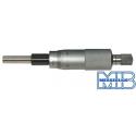 Głowica mikrometryczna bez stałej śruby MIB 0-25 mm