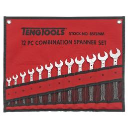 12 elementowy zestaw kluczy płasko-oczkowych TENG TOOLS