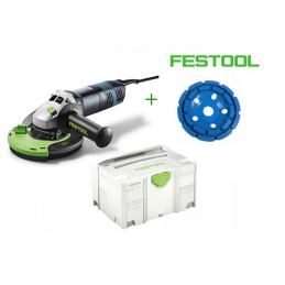 Szlifierka do betonu FESTOOL DSG-AG 125 1400 W+ tarcza do betonu 125mm