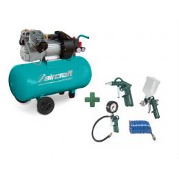 Sprężarka kompresor AIRCRAFT MOBILBOY 361/50 E + Zestaw narzędzi pneumatycznych