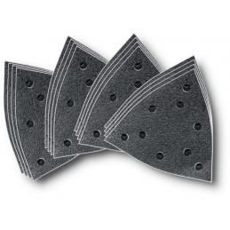 Zestaw arkuszy papieru ściernego FEIN korund z otworami
