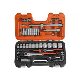 """Zestaw narzędzi 1/4"""" i 1/2"""" BAHCO 56 elementów"""