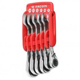 Zestaw 6 kluczy oczkowo-płaskich Facom 467S.JP6