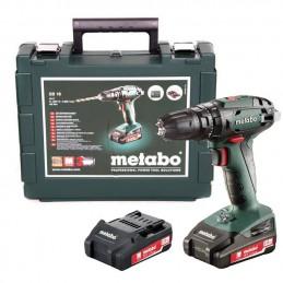 Akumulatorowa wiertarko-wkrętarka  udarowa METABO SB 18, 2x2,0 Ah, walizka, ładowarka