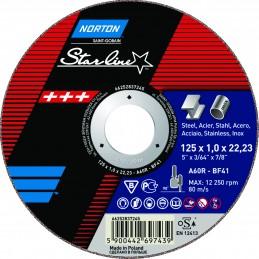Tarcza ścierna T41 125x1,0x22,23mm NORTON Starline A 60 R