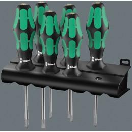 Zestaw wkrętaków Kraftform Lasertip z wieszakiem WERA