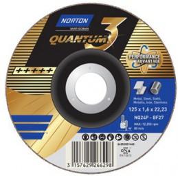 Tarcza do szlifowania T27 125x7,0x22,23mm NORTON Quantum 3 NQ24P