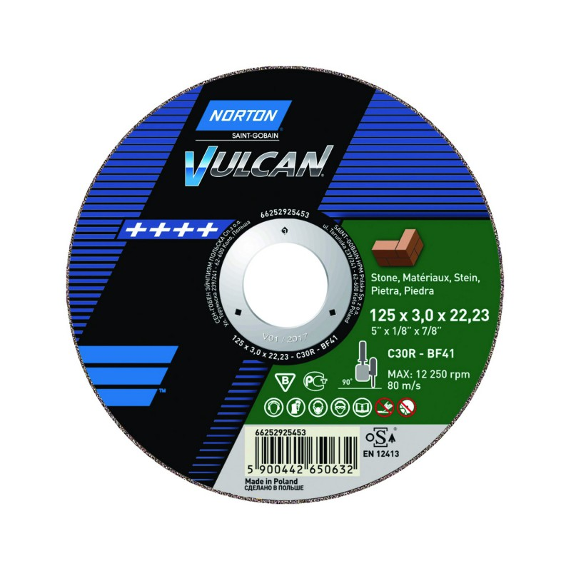 Tarcza tnąca T41 125x3,0x22,23mm NORTON Vulcan C 30 R