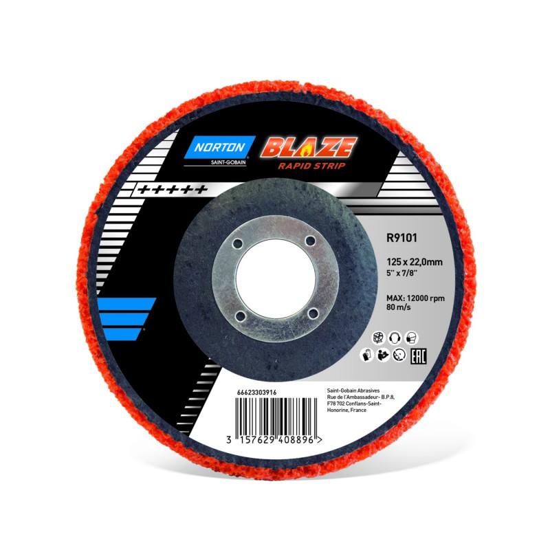 Krążek zdzierakowy 125x22mm NORTON BLAZE Rapid Strip R9101