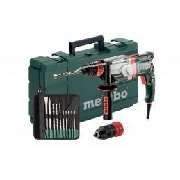 Młotowiertarka METABO UHEV 2860-2 Quick Set + zestaw 10 szt wierteł i dłut , walizka PVC