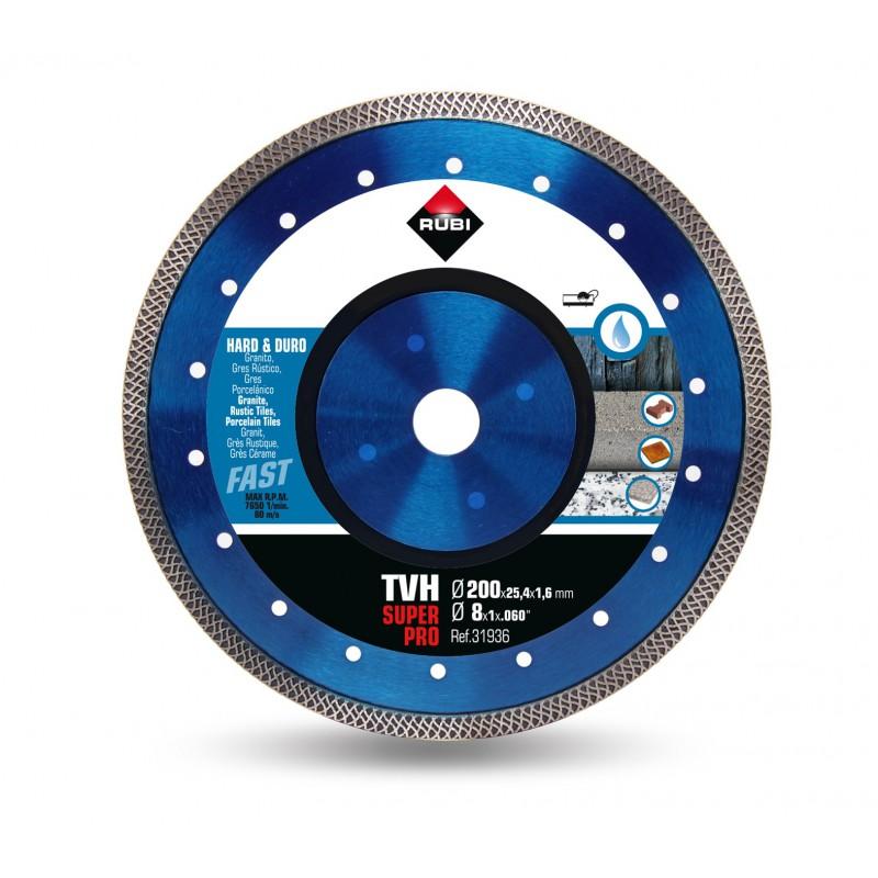 Tarcza diamentowa do materiałów twardych RUBI TVH 200 SUPERPRO