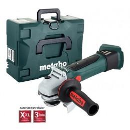 Szlifierka akumulatorowa METABO W 18 LTX 125 QUICK (CARCASS) + Metaloc II