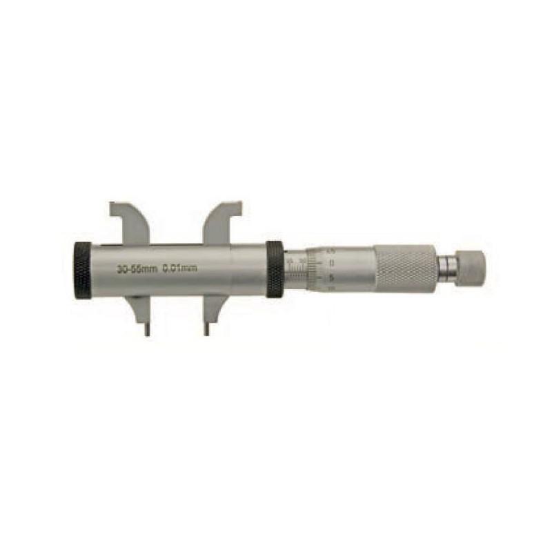 Mikrometr do pomiarów wewnętrznych MIB MESSEZUGE 5-55 mm z podwójnymi szczękami, z regulowanym pierścieniem