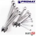 Zestaw kluczy płasko-oczkowych PROMAT 10-32 mm