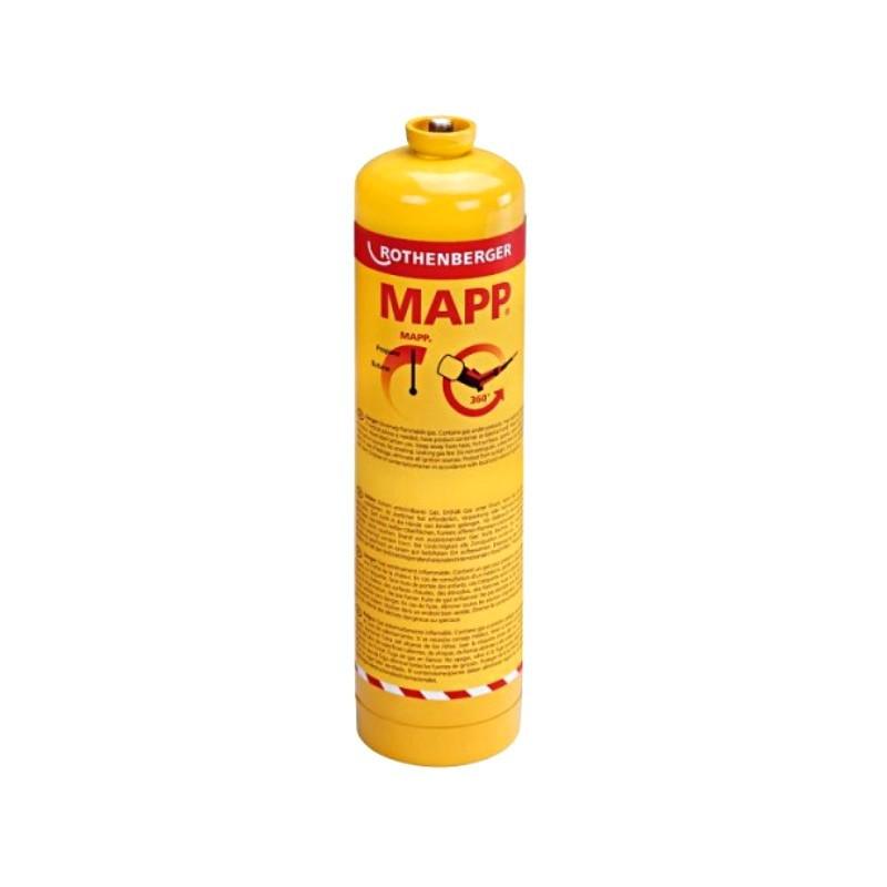 """Pojemnik z gazem ROTHENBERGER MAPP GAS gwint EU 7/16"""" 360°, 750ml"""