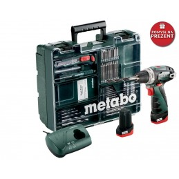 Wiertarko-wkrętarka akumulatorowa METABO POWERMAXX BS BASIC SET (600080880)