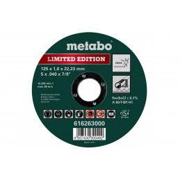 Tarcza tnąca METABO LIMITED EDITION 125x1,0x22,23 Inox, 616263000