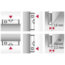 Poziomica aluminiowa wzmocniona BMI ALUSTAR 150 cm