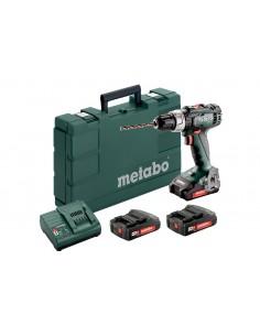 Wiertarko-wkrętarka akumulatorowa METABO BS 18 L Set , 3x2,0Ah, w walizce