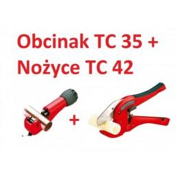 Zestaw nożyc do rur ROTHENBERGER obcinak TC 35 + obcinak TC 42
