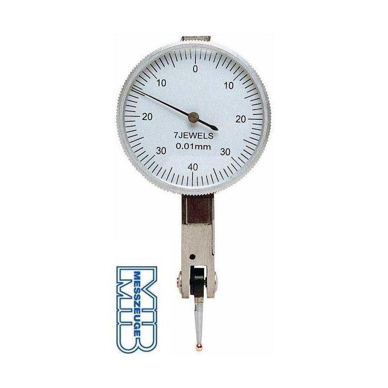 Czujnik zegarowy MIB MESSZEUGE RUBIN zakres 0,8 mm