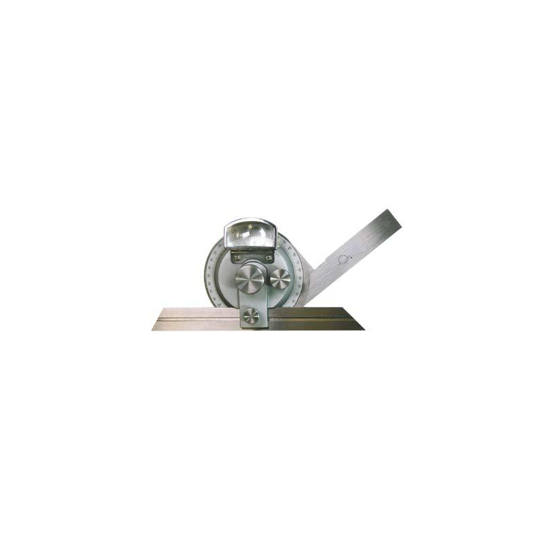 Kątomierz z lupą MIB MESSZEUGE 150 mm