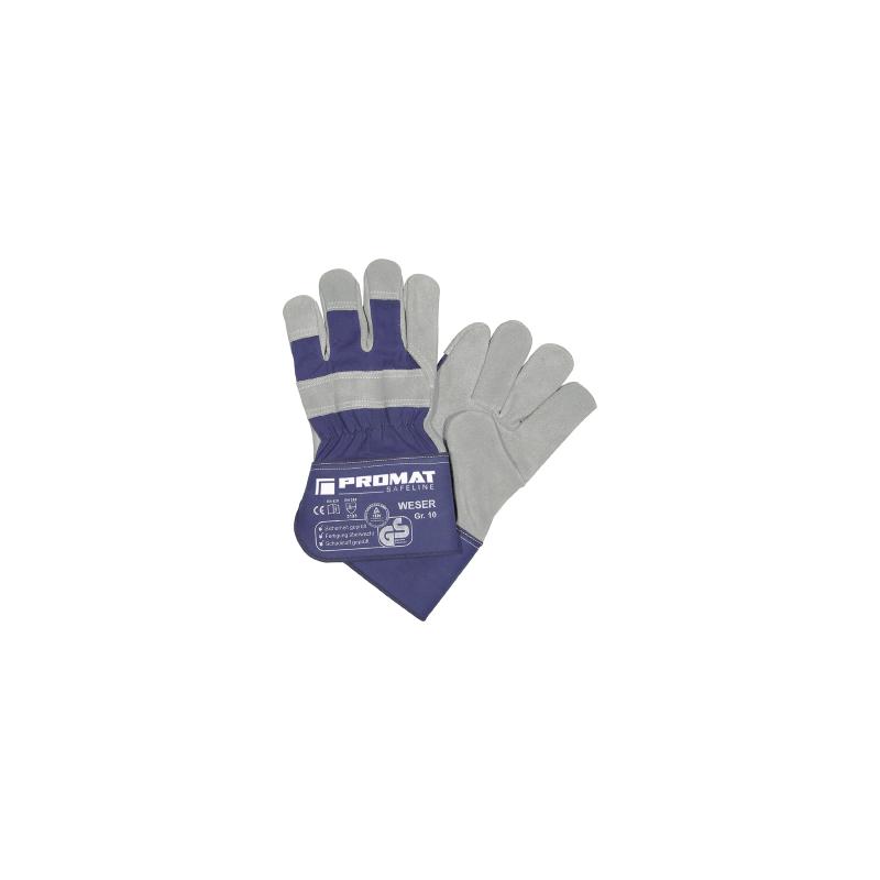Rękawice PROMAT z dwoinowej skóry