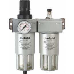 "Reduktor ciśnienia z manometrem, filtrem, naolejaczem  METABO FRL 180 1/4"""