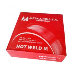 Drut spawalniczy METALURGIA SG2 (G3Si1) 1,0mm, 15 kg