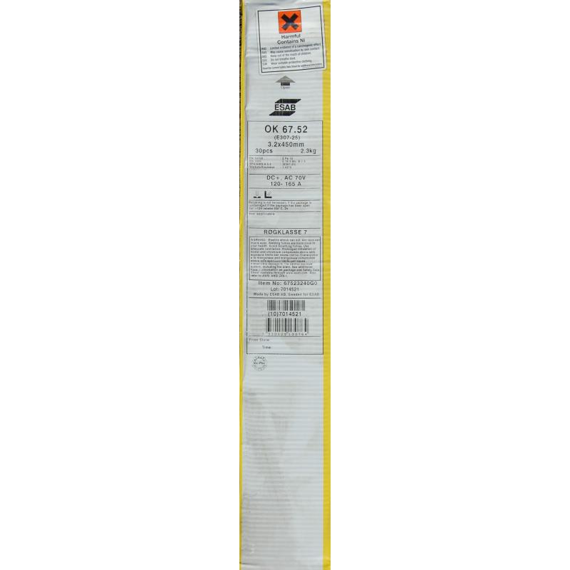 Elektrody spawalnicze ESAB OK 67.52 3.2x450mm / 2.3 kg