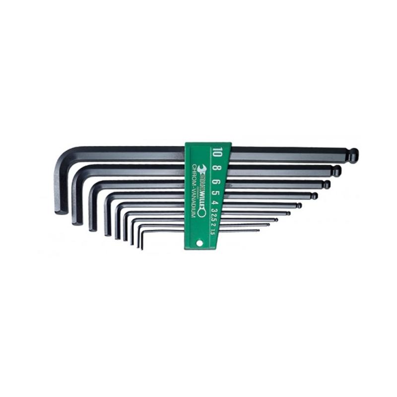 Klucze imbusowe długie STAHLWILLE 10767/9 1.5-10 mm