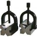 Para pryzm traserskich MIB MESSZEUGE z kabłąkiem 45/40/36mm do wałków 5-20mm