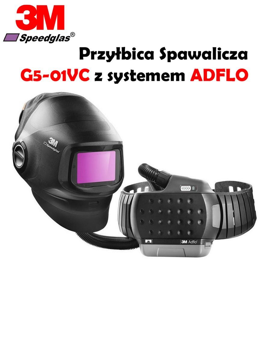 Przyłbica spawalnicza 3M SPEEDGLAS G5-01VC z systemem Adflo