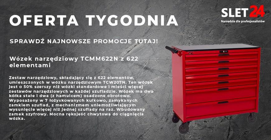 Wózek narzędziowy TCMM622N z 622 elementami